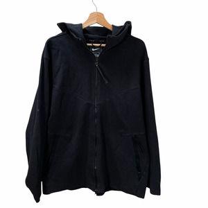 Nike Men's Size XL Black Tech Pack Knit Full Zip Hooded Jacket AR1548-010